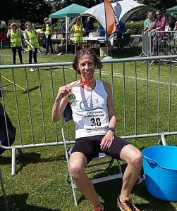 Andy taking a well deserved rest after finishing 20th at The Littledown Marathon